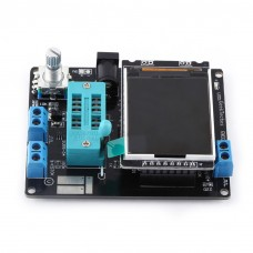 LCD GM328A Black Transistor Tester Diode Capacitance ESR Voltage Frequency Meter PWM Square Wave Signal Generator SMT Soldering