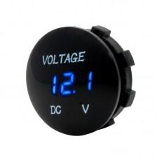 Universal Digital Display Waterproof LED Voltage Meter for DC 12V-24V Car Motorcycle Truck (Blue)