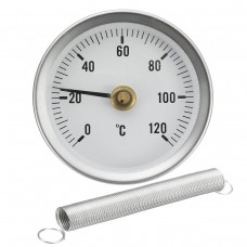 63mm 0-120  C Clip Dial Thermometer Temperature Temp Gauge With Spring