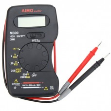 AIMO M300 Mini Digital LCD Multimeter DMM Meter Ammeter Ohmmeter Voltmeter Resistance Tester