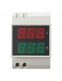 Din Rail LED AC 80-300V 0-100.0A Voltmeter Ammeter Active Power and Power Factor Time Energy Meter