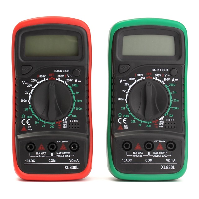 XL830L LCD Digital Multimeter Voltmeter AC/DC Ohmmeter Ammeter Capacitance OHM Tester