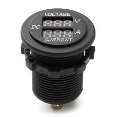 Car DC 12V 24V Voltmeter Ammeter LED Display Digital Voltage Meter