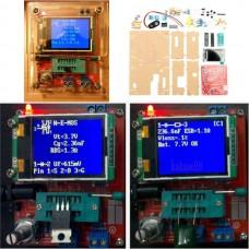 DIY Mega328 Transistor Tester Kit Capacitance Inductance ESR Meter Diode Triode With Case
