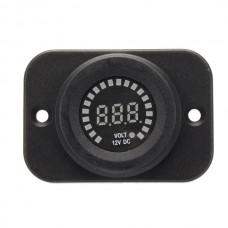 12V Vehicle Colorfol Screen Voltmeter Waterproof Digital Warning Instrument
